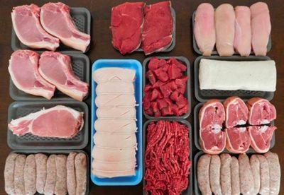 Carne y pienso